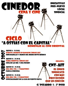 """Ciclo de Cine """"Cinedor, a ostias con el capital"""""""