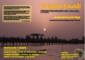 """Proyeccion del documental """"Un lugar en el mundo"""" del donostiarra Juan Falque"""