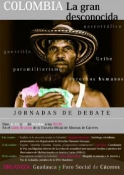 """Jornadas de debate """"COLOMBIA. LA GRAN DESCONOCIDA"""""""